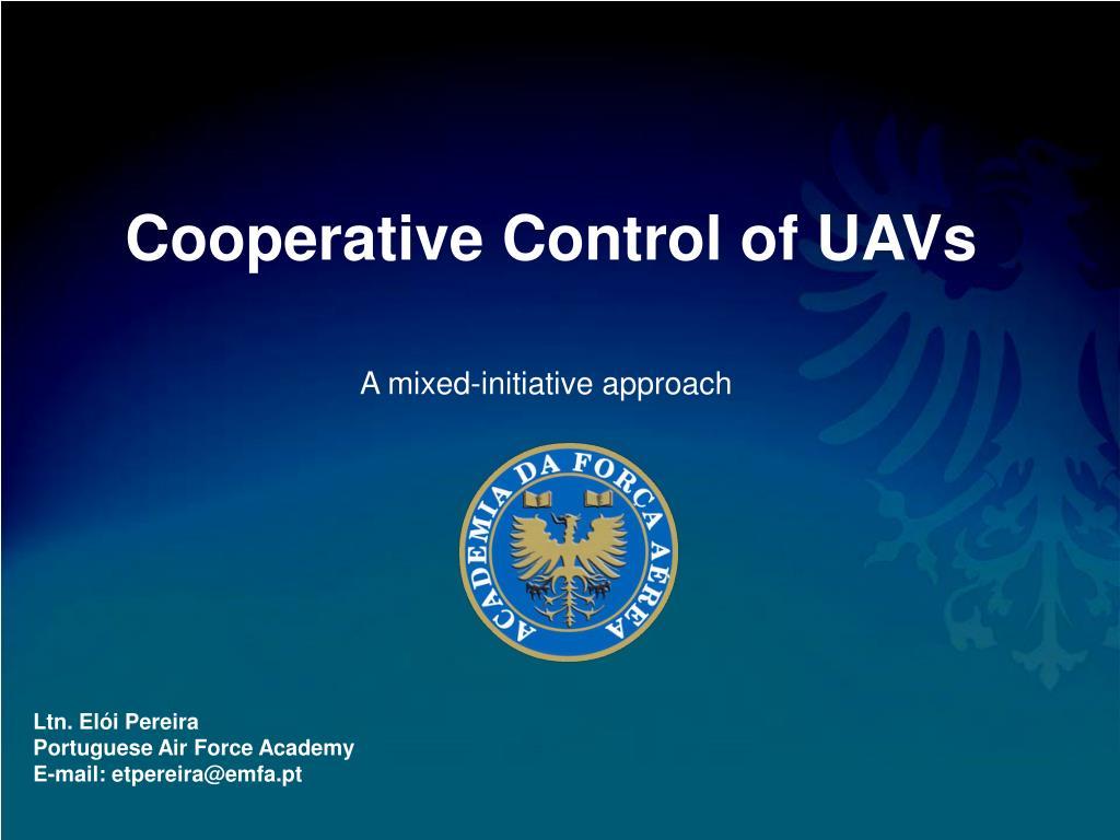 cooperative control of uavs l.