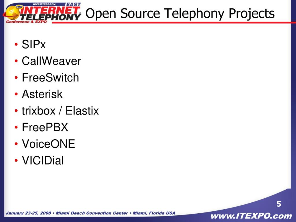 Open Source Telephony Projects