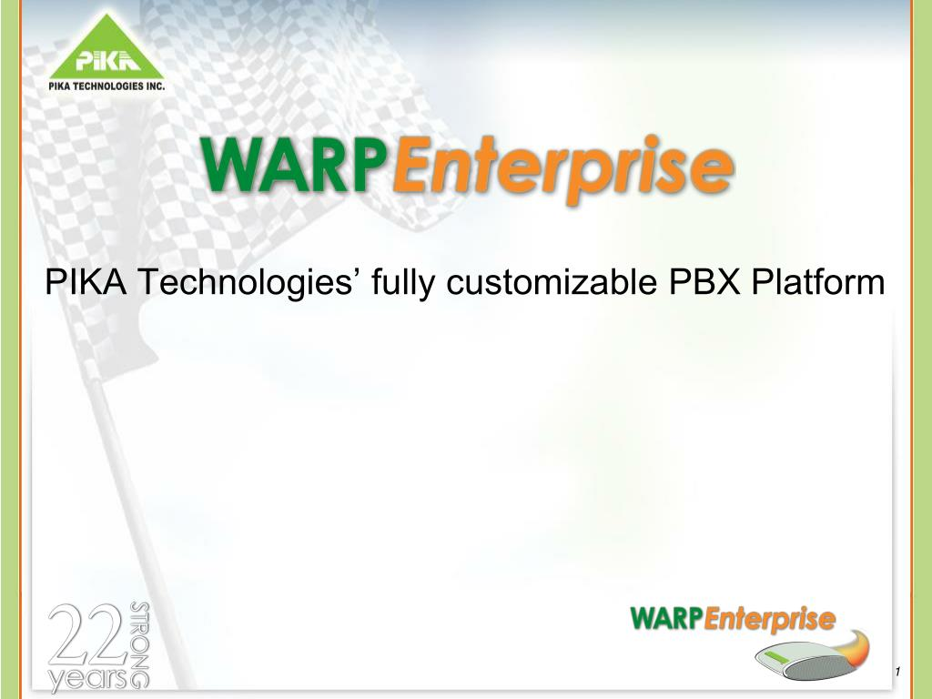 pika technologies fully customizable pbx platform l.