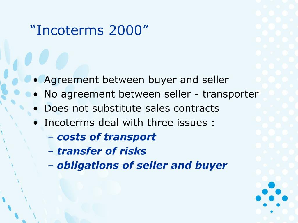 """""""Incoterms 2000"""""""