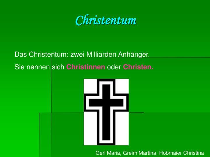 Christentum