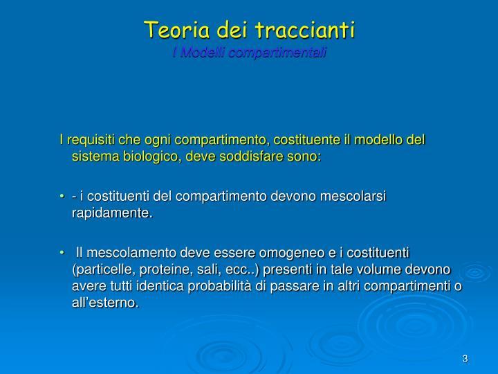Teoria dei traccianti i modelli compartimentali3