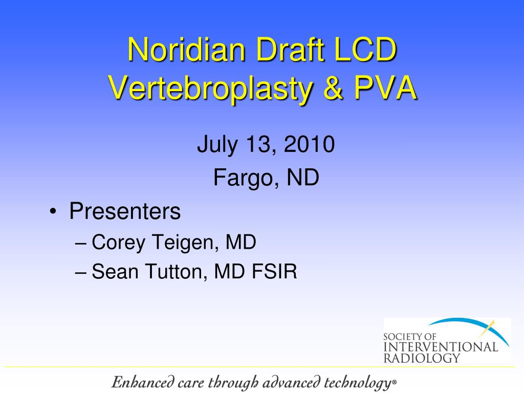 noridian draft lcd vertebroplasty pva l.