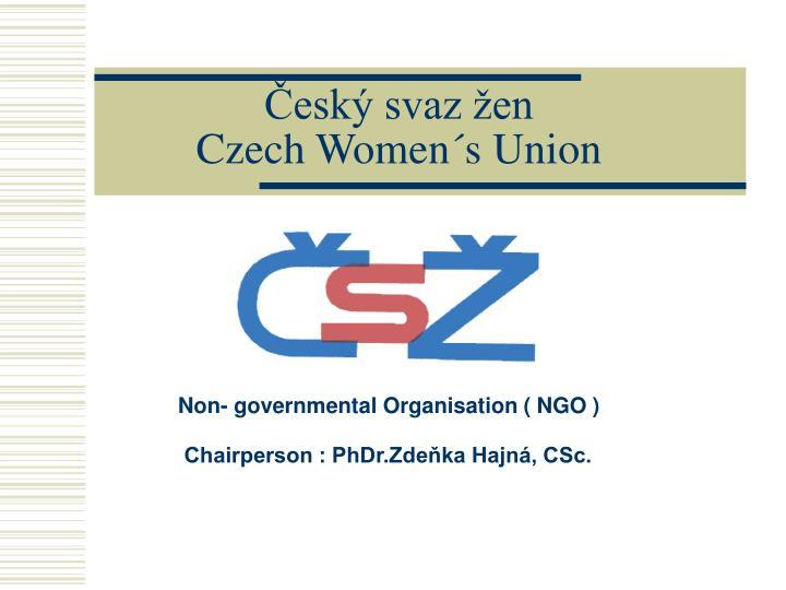 Esk svaz en czech women s union