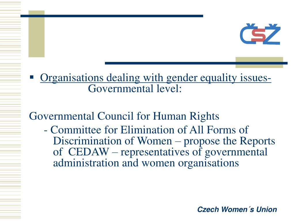 Organisations dealing with gender equality issues-