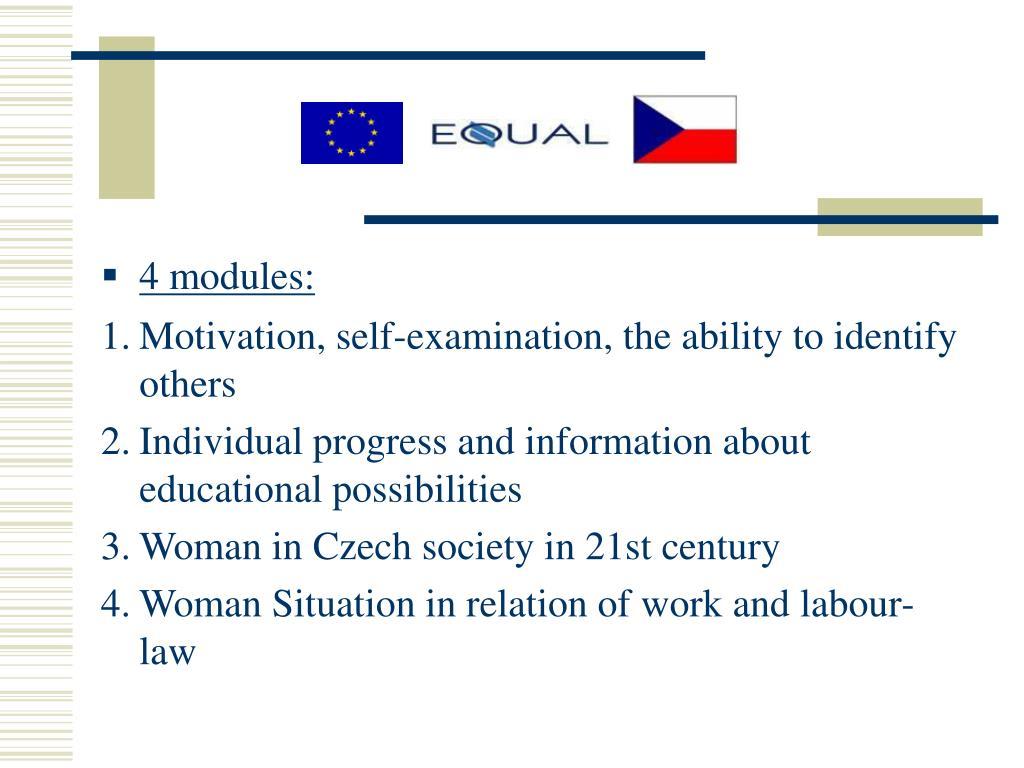 4 modules: