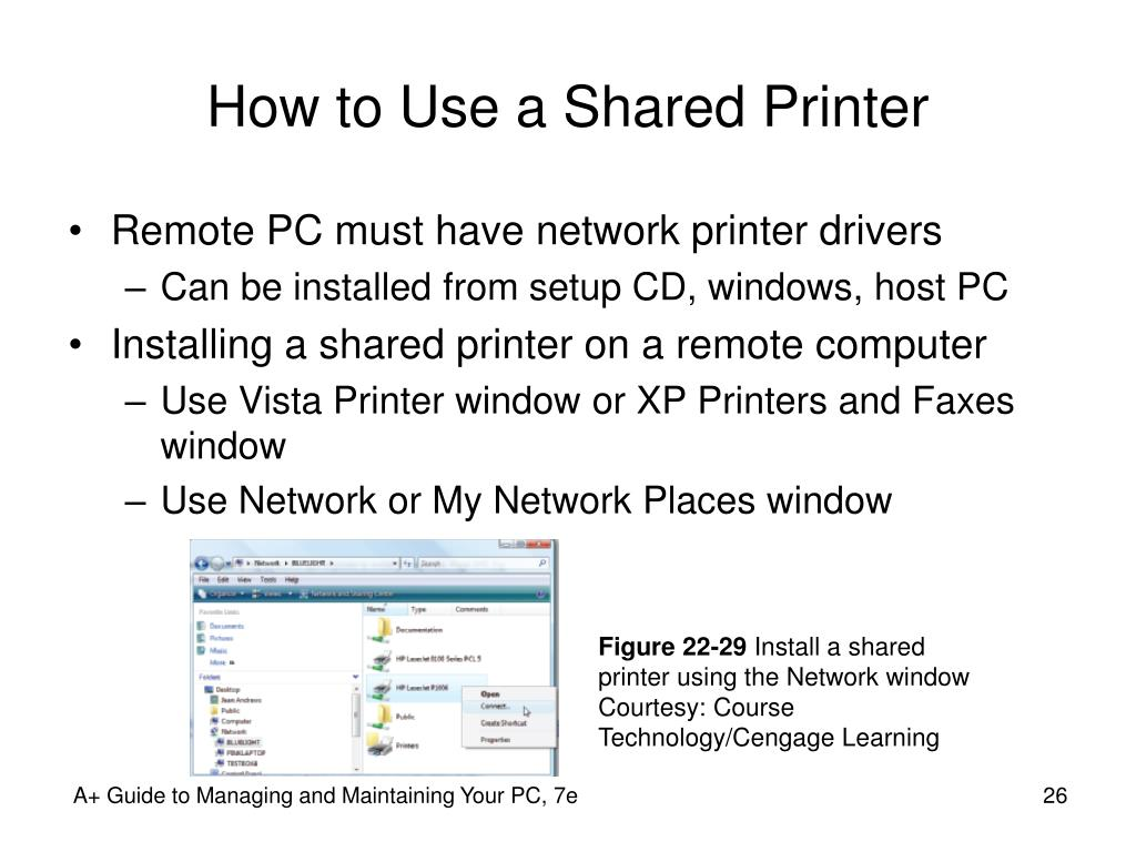 How to Use a Shared Printer