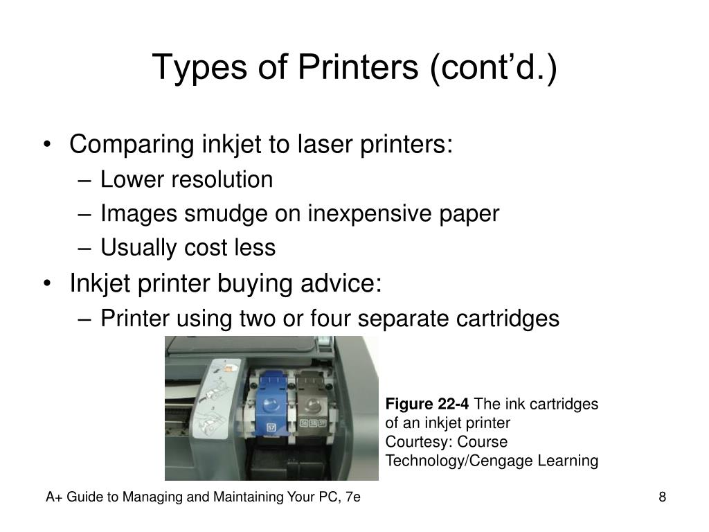 Types of Printers (cont'd.)
