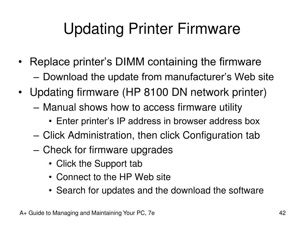 Updating Printer Firmware