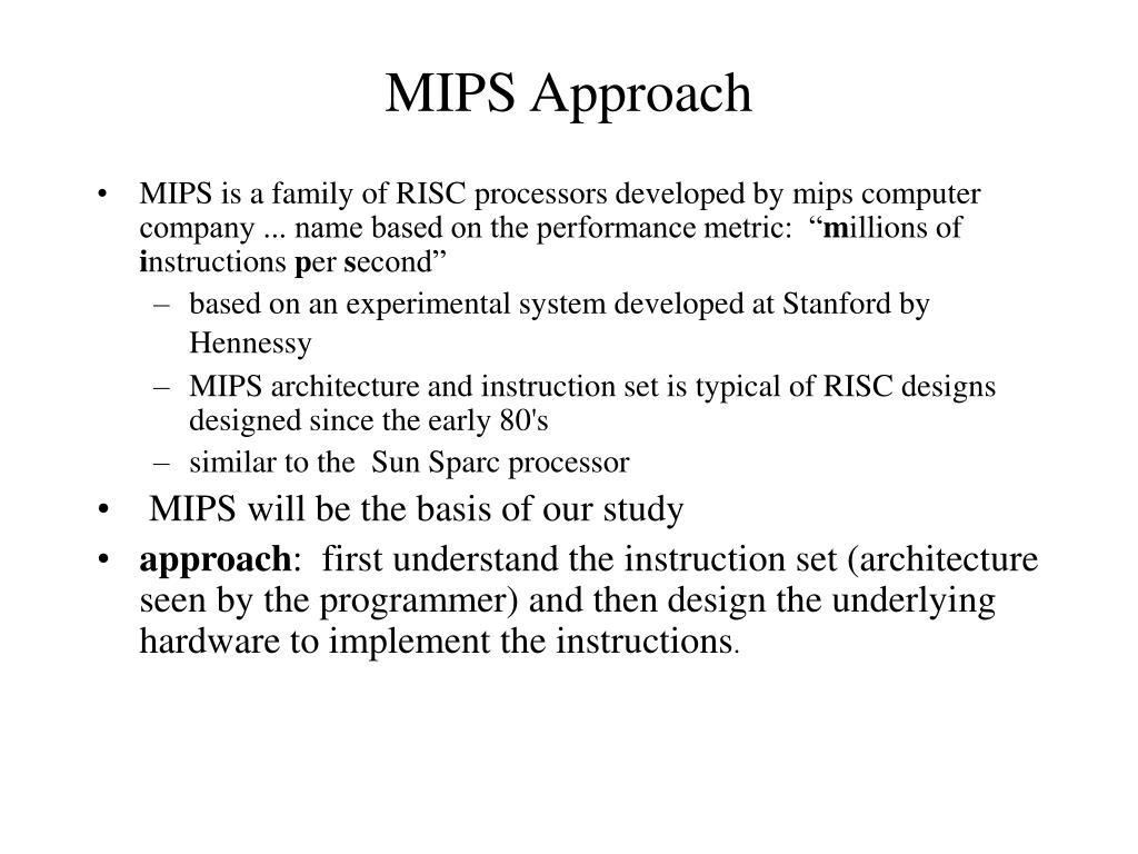MIPS Approach