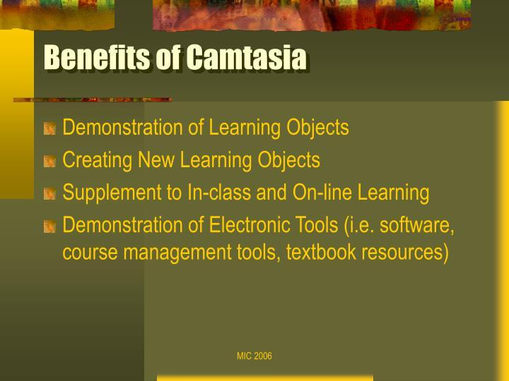 Benefits of camtasia