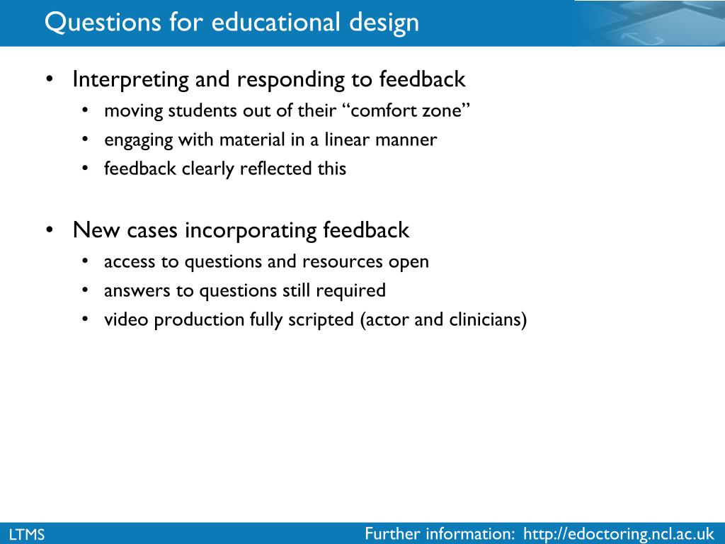 Questions for educational design