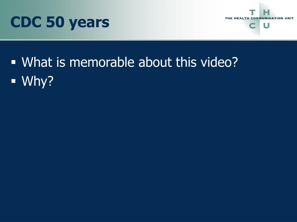 CDC 50 years