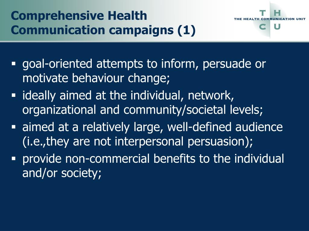 Comprehensive Health Communication campaigns (1)