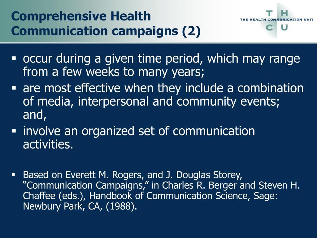 Comprehensive Health Communication campaigns (2)
