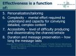 effectiveness is a function of updated oct 29 0498