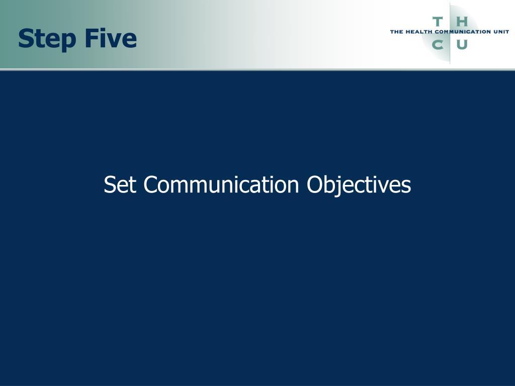 Set Communication Objectives