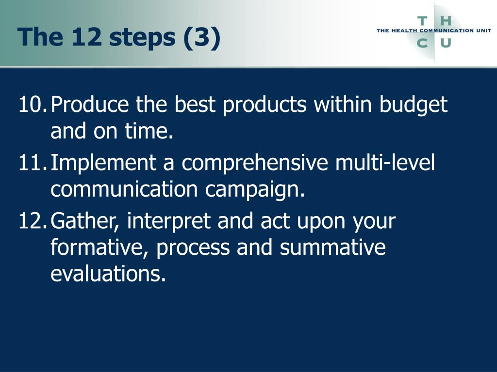The 12 steps (3)
