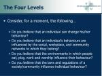 the four levels