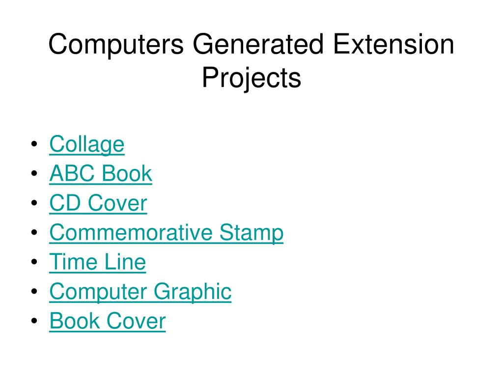 Computers Generated Extension Projects