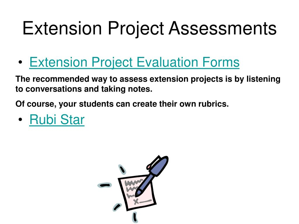 Extension Project Assessments
