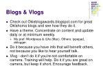 blogs vlogs