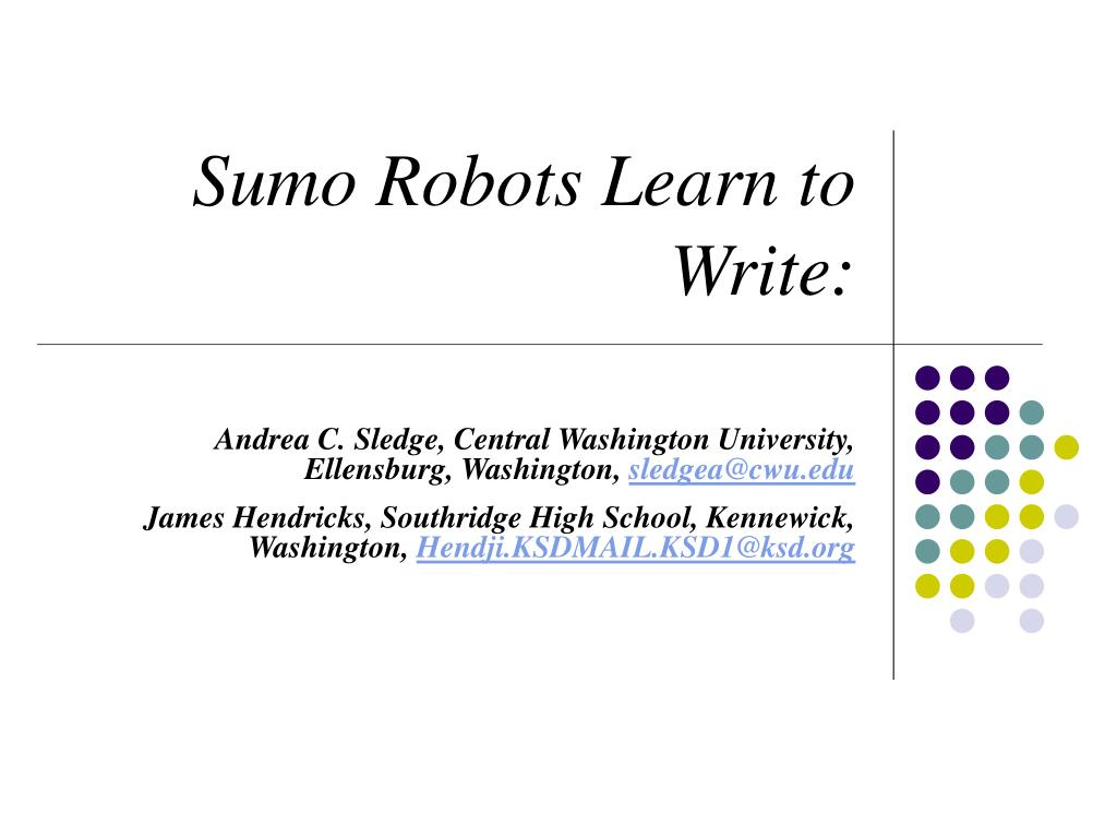 sumo robots learn to write l.
