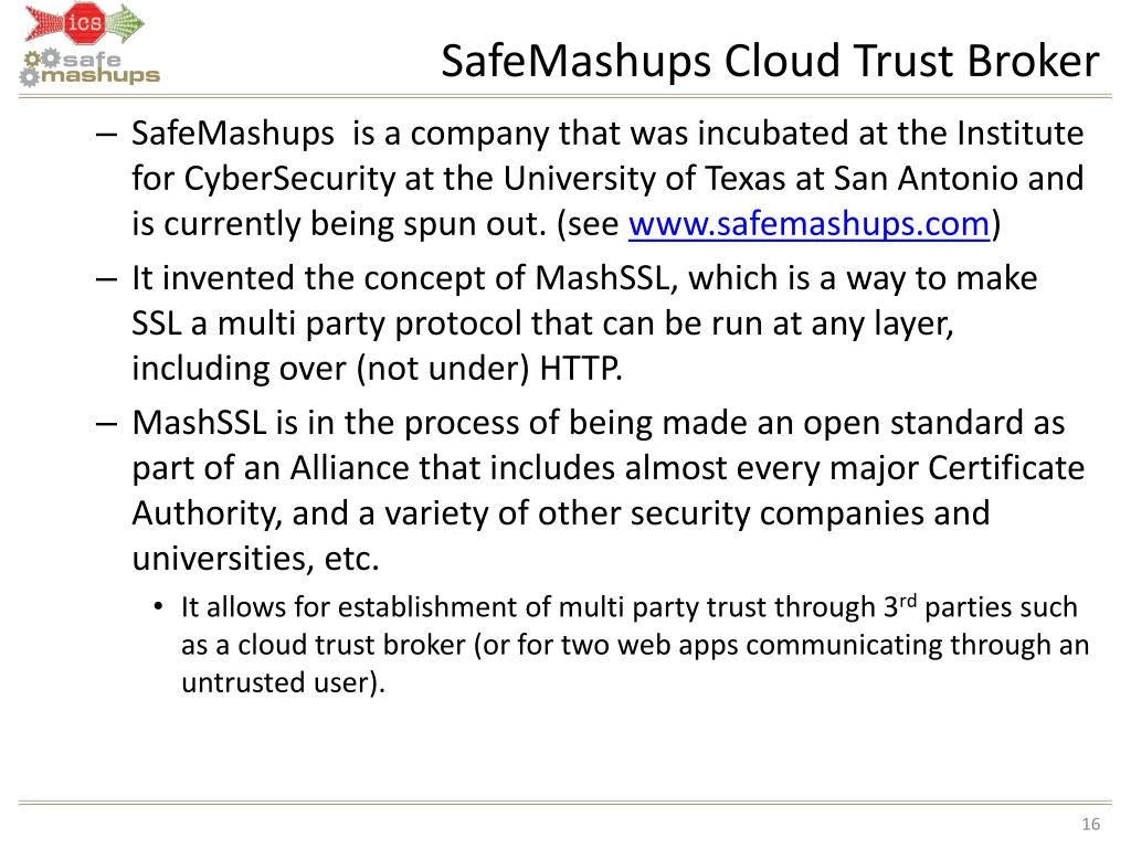 SafeMashups Cloud Trust Broker