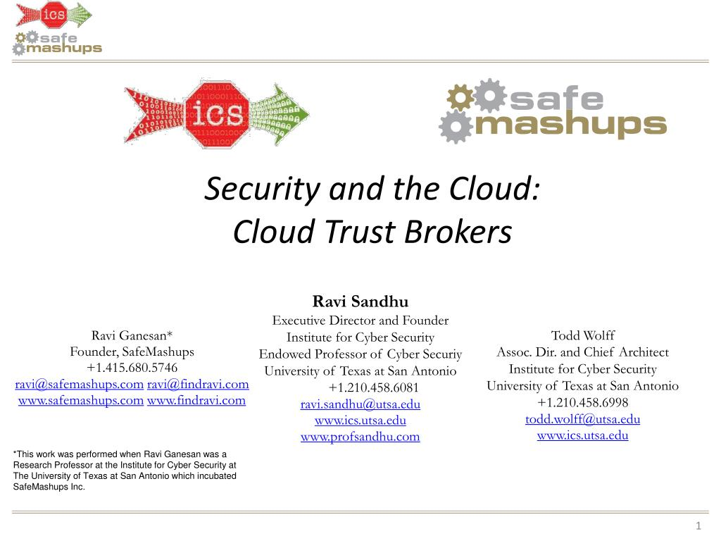 Security and the Cloud: