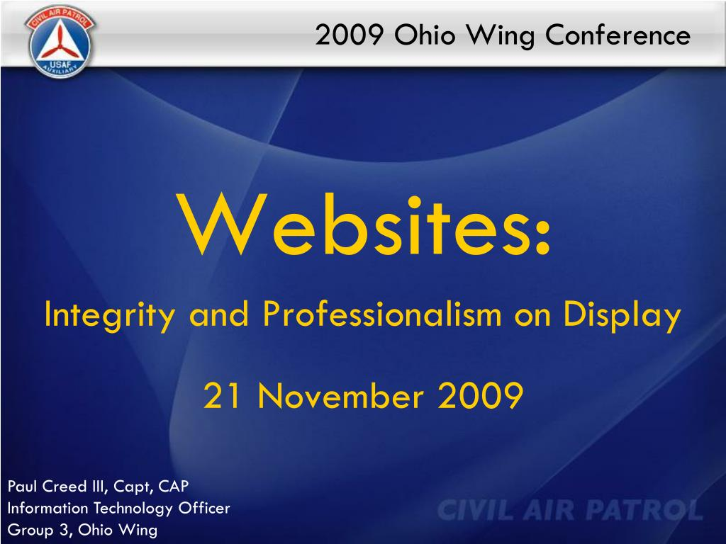 2009 ohio wing conference l.