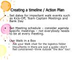 creating a timeline action plan