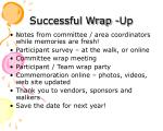 successful wrap up