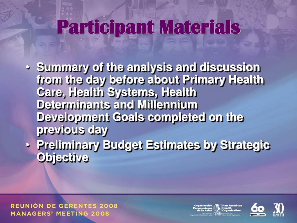 Participant Materials