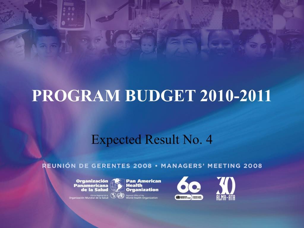 PROGRAM BUDGET 2010-2011