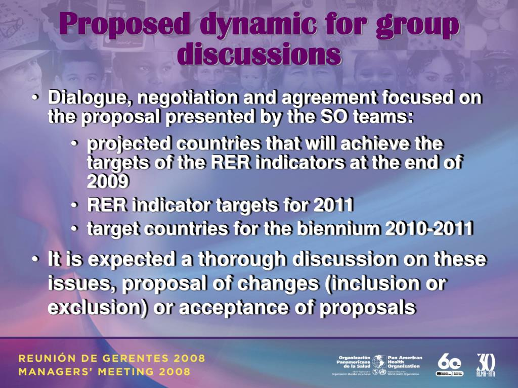 Proposed dynamic for group discussions
