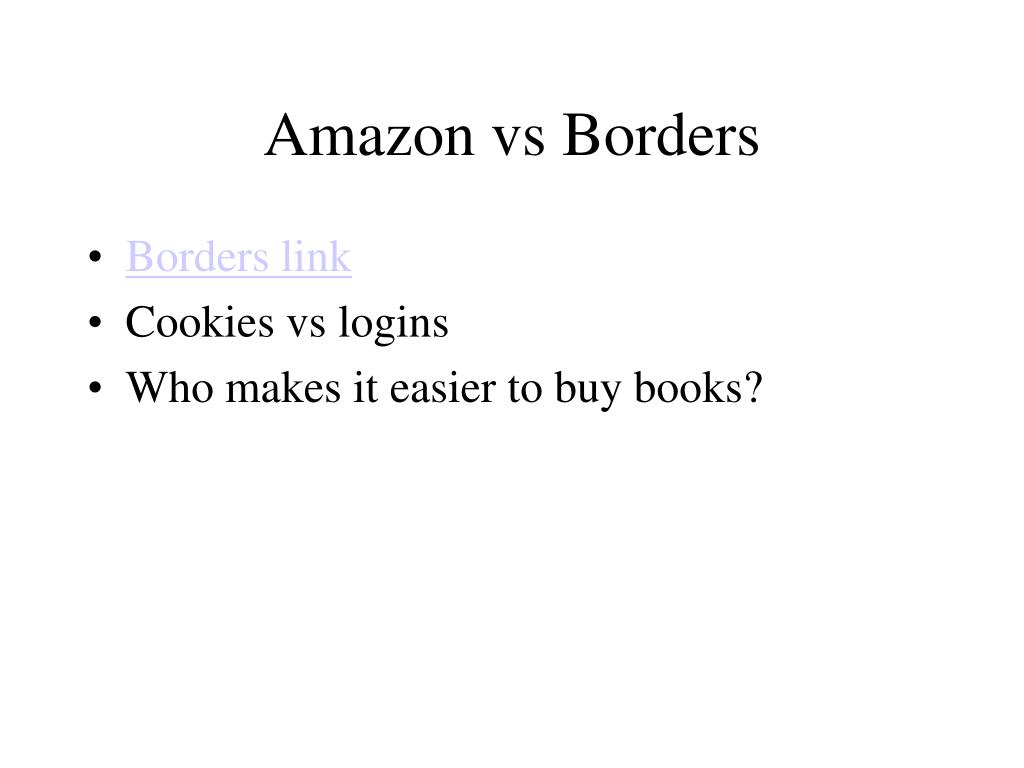 Amazon vs Borders