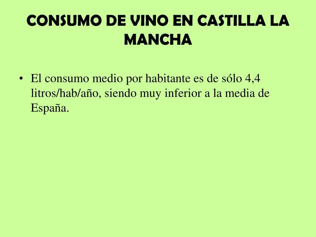 CONSUMO DE VINO EN CASTILLA LA MANCHA
