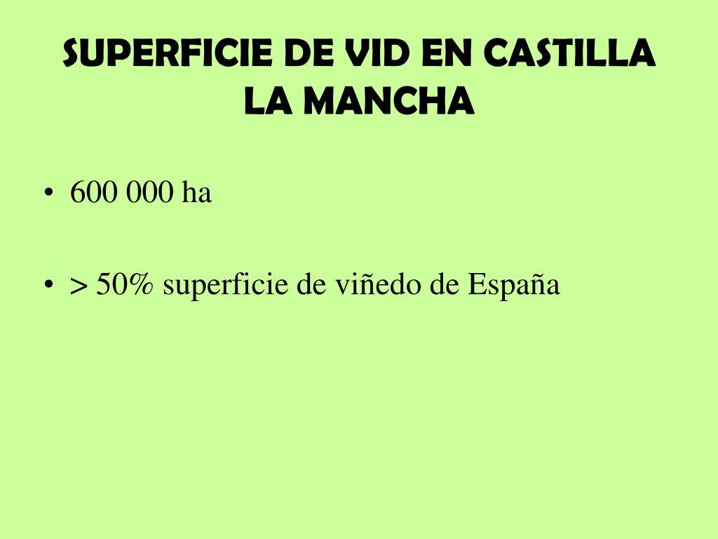 SUPERFICIE DE VID EN CASTILLA LA MANCHA