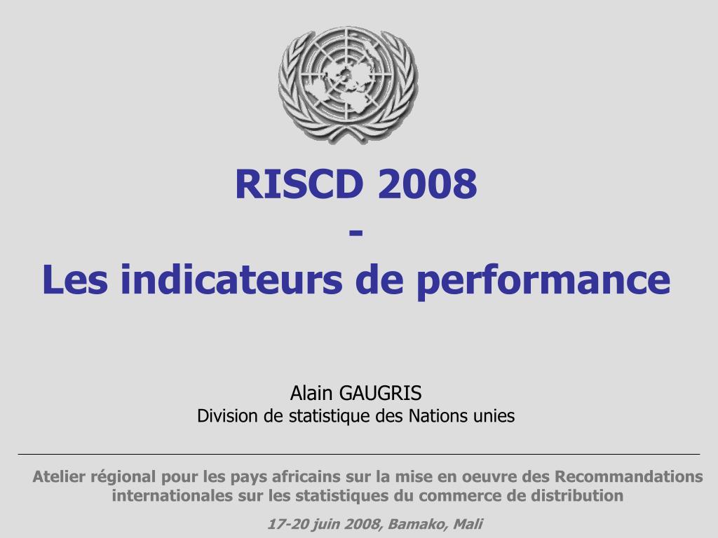 riscd 2008 les indicateurs de performance