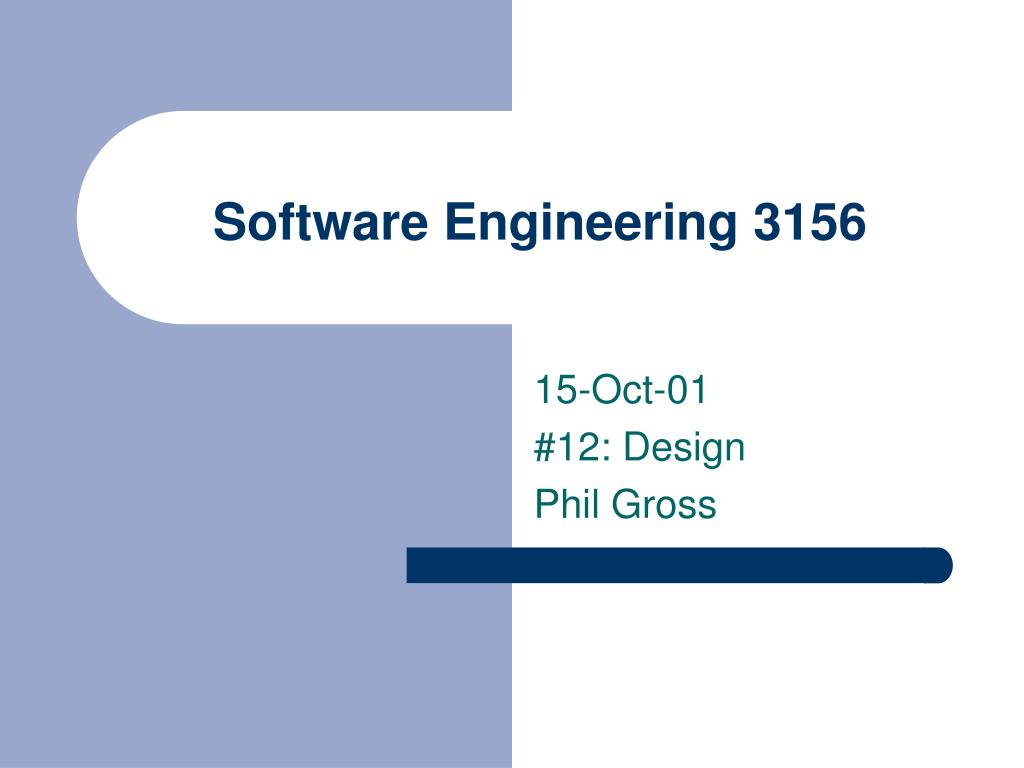 software engineering 3156 l.