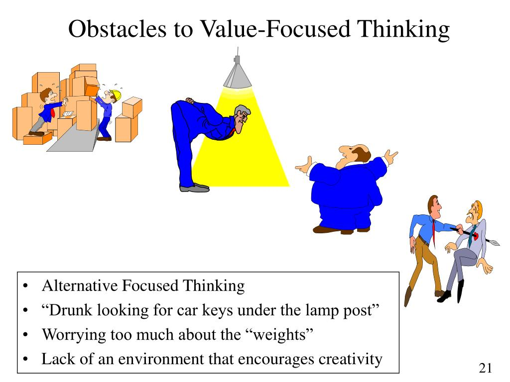 Obstacles to Value-Focused Thinking