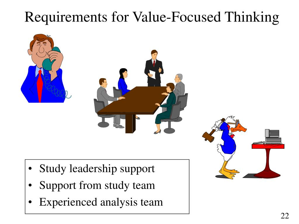 Requirements for Value-Focused Thinking
