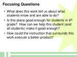 focusing questions