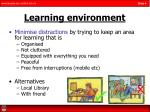 learning environment