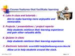 course features that facilitate learning9