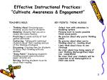 effective instructional practices cultivate awareness engagement