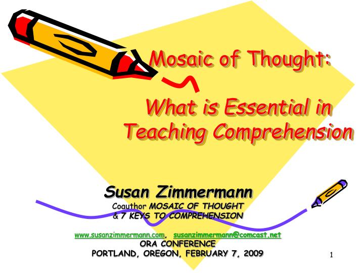 mosaic of thought what is essential in teaching comprehension n.