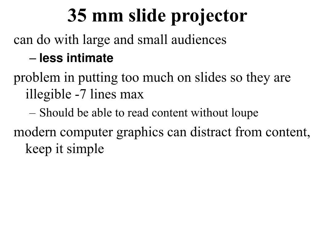 35 mm slide projector