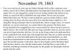 november 19 1863