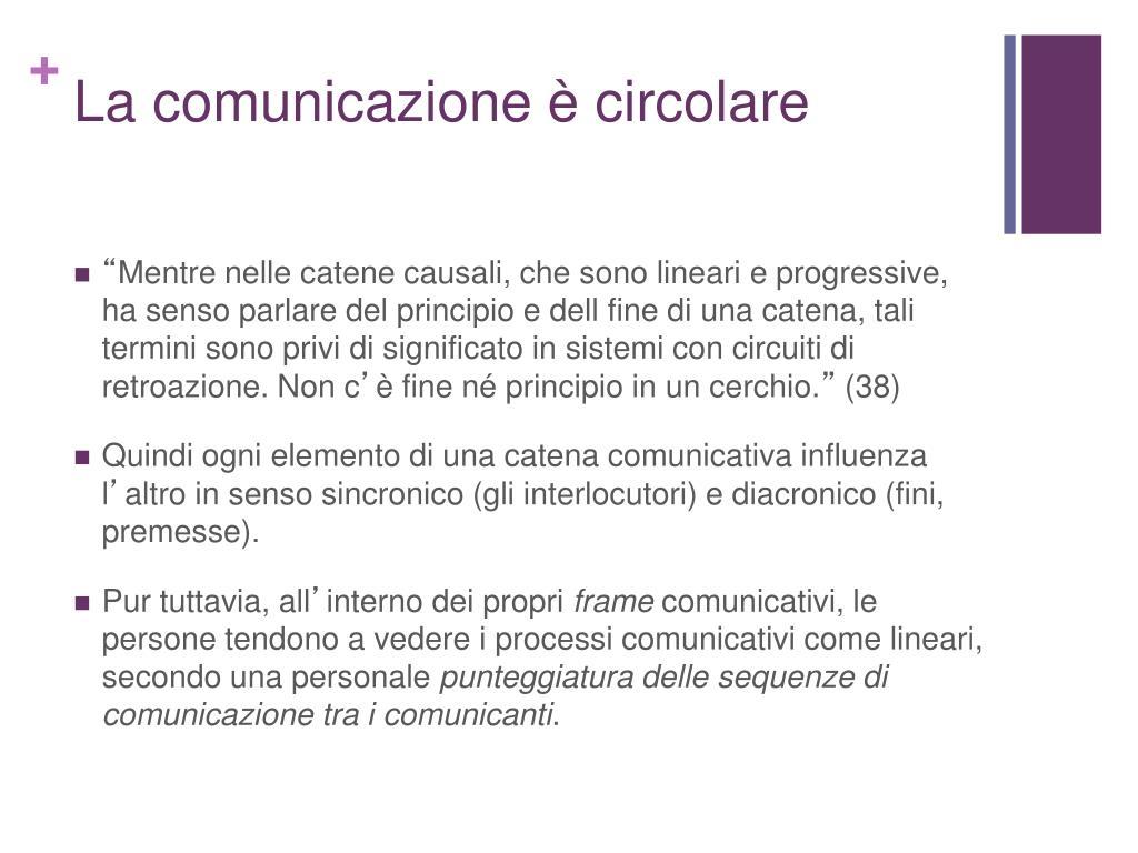 La comunicazione è circolare
